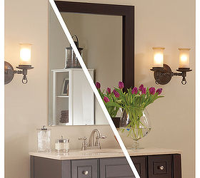 Framing A Plate Glass Bathroom Mirror With MirrorMate Frames