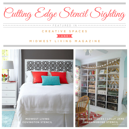 stencil sighting in creative spaces and midwest living magazine, bedroom ideas, home decor, painting, wall decor