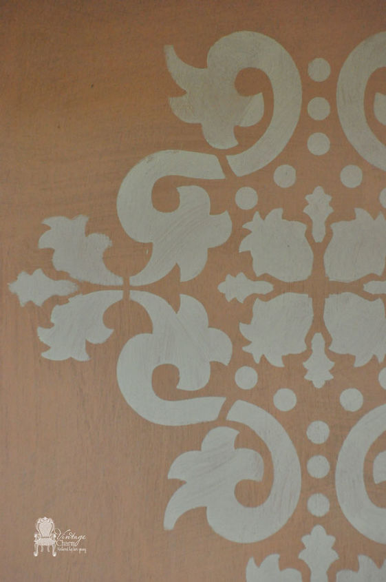 Maison Blanche Creole Orange and stenciled with Silver Mink