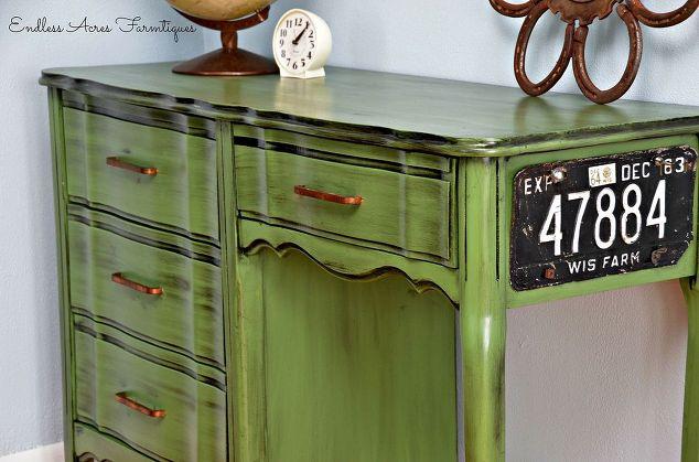 apple furniture green painted desk pin desks pinterest