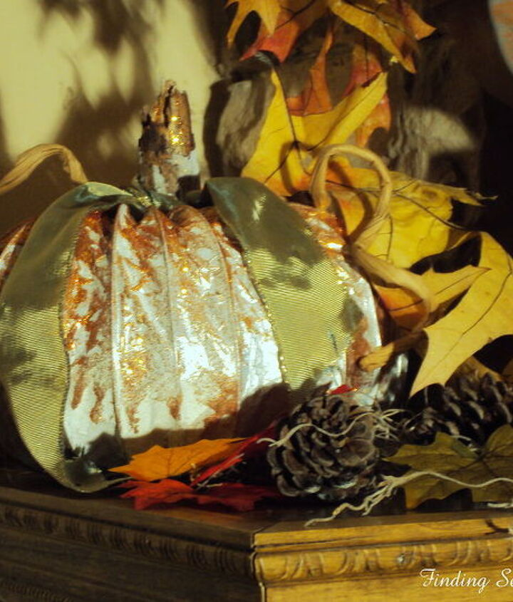 fall pumpkins from dryer vents, repurposing upcycling, seasonal holiday decor