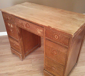 Salvaged Wood Desk Transformed With Chalk Paint Bubble Wrap And Faux  Leather, Chalk Paint,