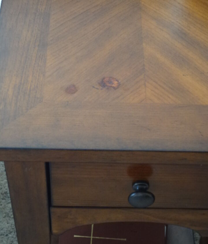 q what s the best way to repair damage to top of a stained table, furniture repair, painted furniture, painting over finishes, painting wood furniture