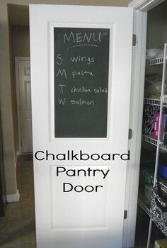 chalkboard pantry door, chalkboard paint, closet, doors, painting