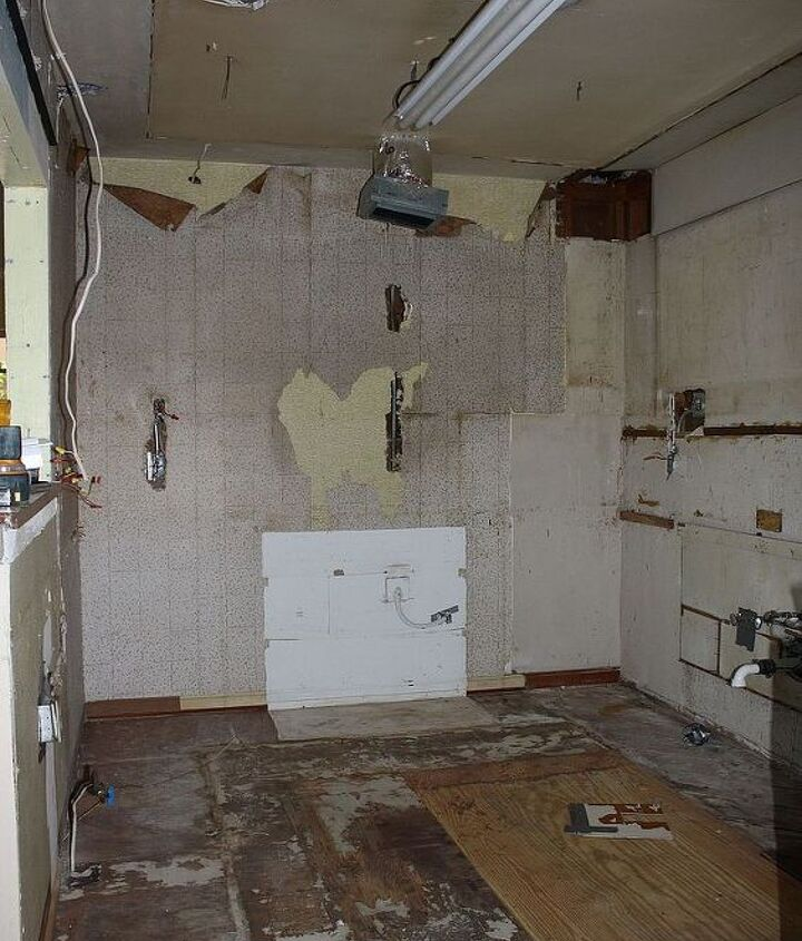 This is what our demolition looked like. It is actually better than the before picture. I'm actually quite serious.