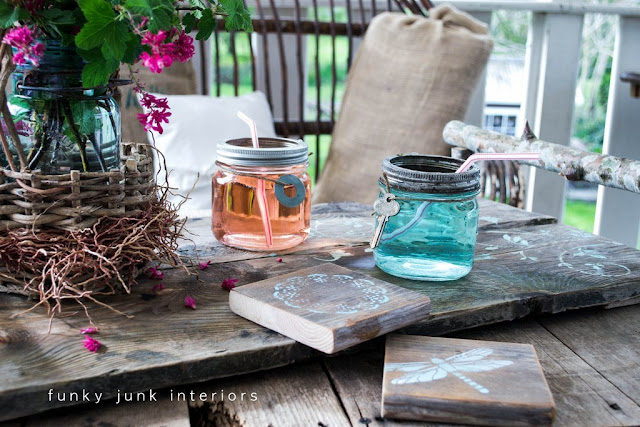 This little set can be whipped up in any size and was so easy to make!   Full tutorial is on the blog at: http://www.funkyjunkinteriors.net/2012/04/rustic-and-pretty-with-little-help-from.html