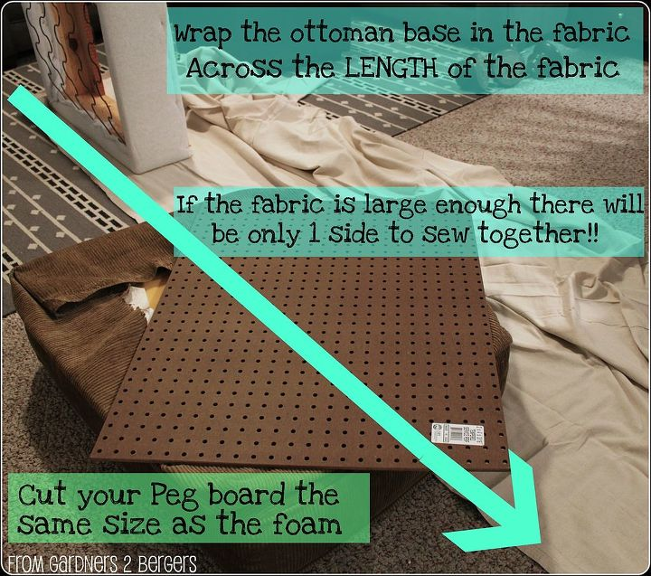 Use the length of the Drop Cloth to utilize the longest hemmed side