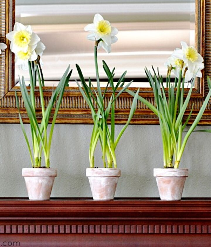 And the pots can easily be used as lovely mantel decor.