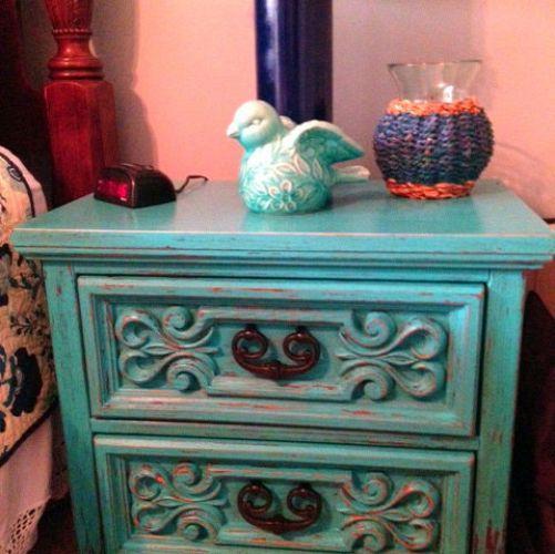 Little Boy Blue Nightstand http://bellascraftymom.blogspot.com/2012/07/little-boy-blue.html