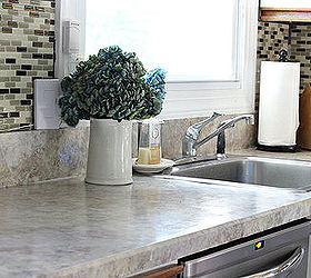 Superbe Painted Laminate Countertops, Countertops, Painting