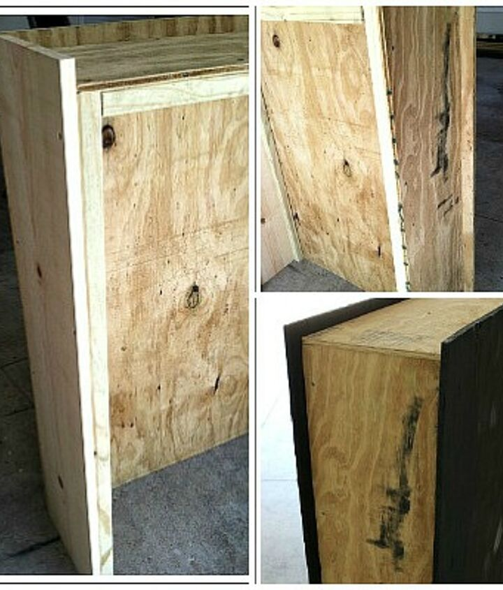 This box was built out of plywood.  It really wasn't hard.  Here are the step-by-step instructions for making this outside Halloween decoration.  http://www.decorating-ideas-made-easy.com/outside-halloween-decorations.html