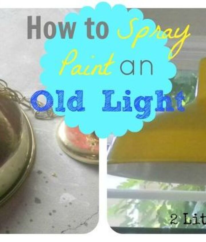 Spray painting an old light