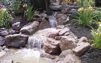 pondless waterfall build, outdoor living, ponds water features
