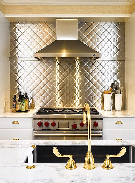 Trendy and Unique Backsplash Ideas | Hometalk on stainless steel bowls, stainless kitchen of material, stainless steel kitchen, stainless steel backsplash ideas,