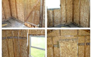 chicken coop progress, home improvement, painting, pets animals, Inside coop before