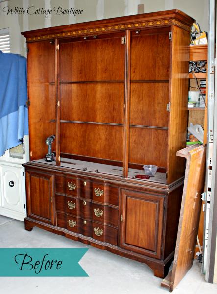 Beautiful Restored Blue And Cream Hutch Hometalk
