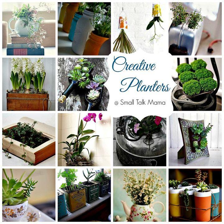 saturday sparks creative indoor planters, flowers, gardening