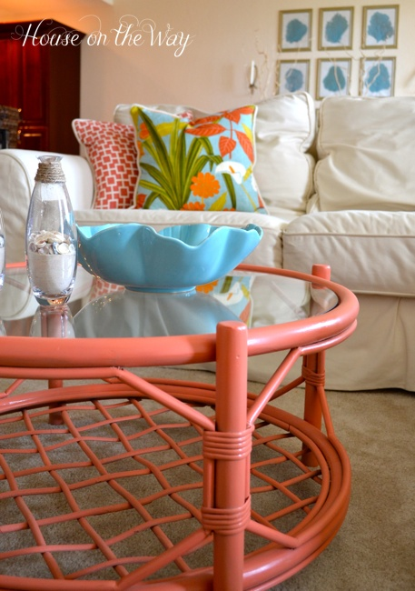 The color goes great with my accessories in the room and the color works because the large sectional is so neutral.