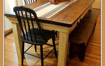 How to Build Your Own FarmHouse Table for Under $100 DIY  #BuildIt