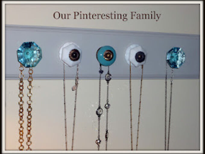 anthropologie knob necklace organizer, diy, organizing