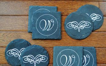 Make some Faux Chalk Art Coasters
