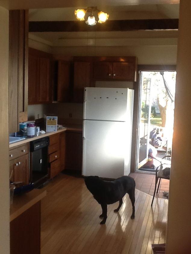 Dark and drab kitchen