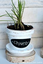 diy herb pots, chalkboard paint, crafts, gardening, Create these rustic pots with chalkboard labels using simple supplies from your local Michaels They are perfect to put herbs in for both indoor or out and so easy too Click through to find the full tutorial MPinterestParty