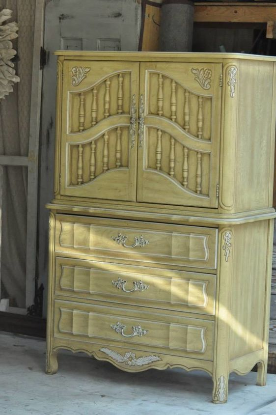 dixie french craft armoire makeover, craft rooms, home office, painted furniture, repurposing upcycling