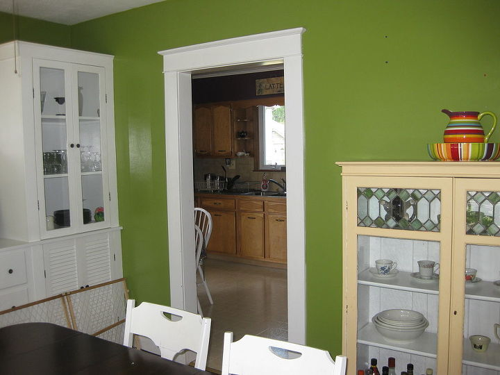 Paint ideas for the cream china cabinet?