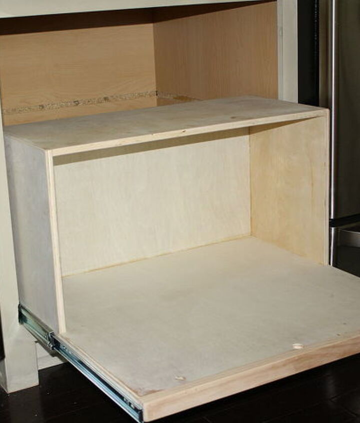 making a kitchen cabinet more functional, kitchen cabinets, shelving ideas, Built this box thingy
