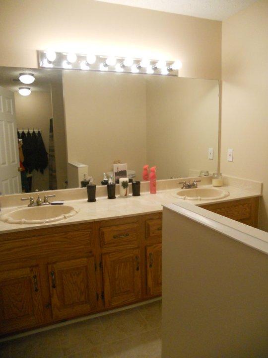 Light Fixture Upgrade On A Budget Hometalk - Bathroom over sink light fixtures