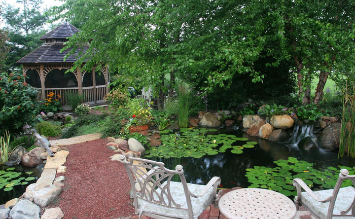 gazebos and ponds some things just go together, gardening, outdoor living, ponds water features