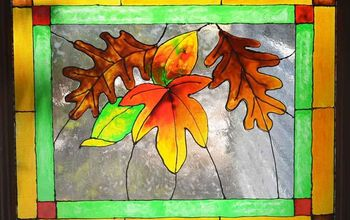 Faux Stained Glass Fall Leaves #FallColors