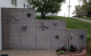 plain ugly foundation retaining wall, concrete masonry, diy, outdoor living, painting