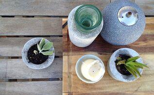 diy concrete planters, concrete masonry, container gardening, diy, flowers, gardening, how to, succulents, DIY concrete succulent planters