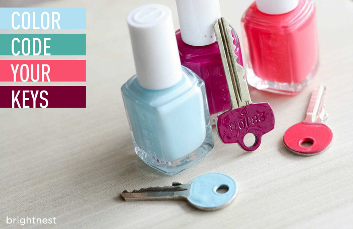 5 minute diy project color code your keys, cleaning tips, organizing