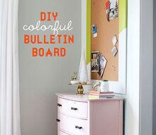 diy colorful bulletin board, crafts, DIY Bulletin Board via Inspired by Charm