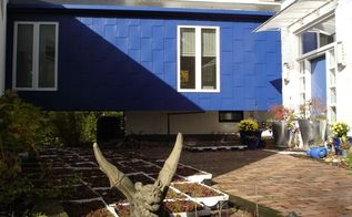 the decor girl s green roof on blue, go green, roofing, Flat Roof with Rubber Membrane prior to Sedum Installation