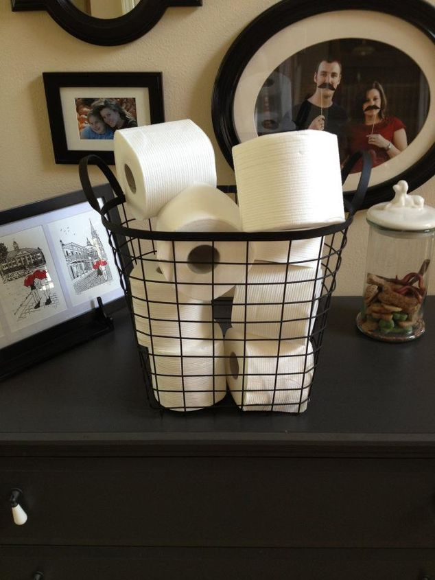 Pretty Toilet Paper Storage Solutions Bathroom Ideas Cleaning Tips Organizing I Found