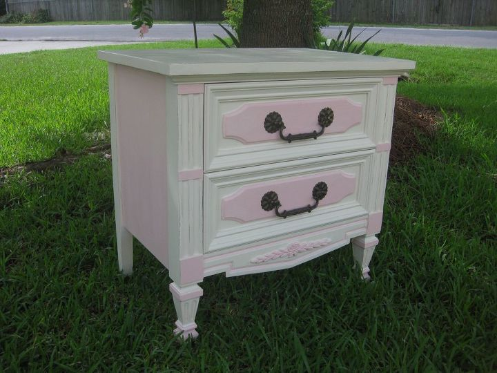 "Painted with Annie Sloan ""Old White"" Paint."