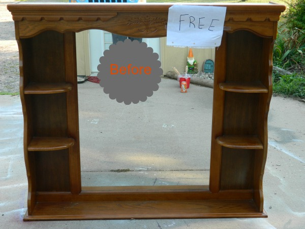 Turn An Ugly Headboard Into A Lovely Bookcase Painted Furniture Repurposing Upcycling