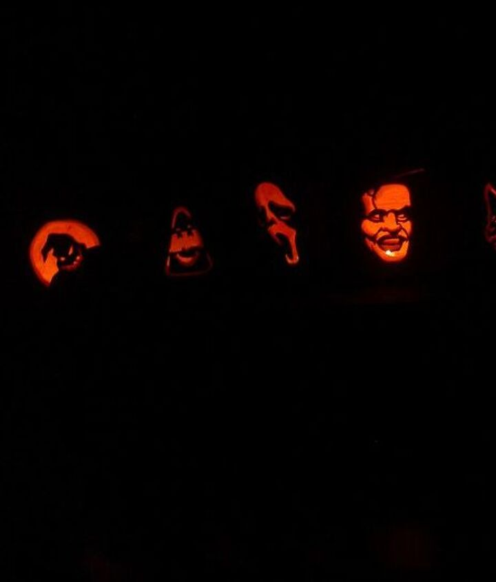 When we were done, it was worth all of the effort and seeing the faces on the kids and pumpkins.   Nice !