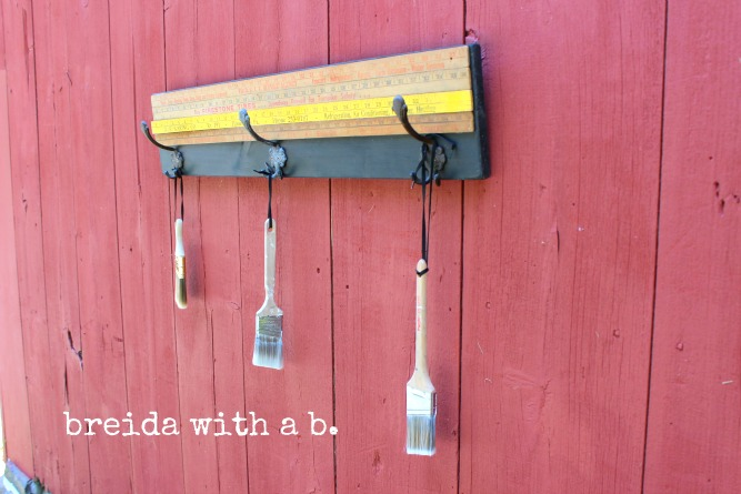 Visit me at the blog to see how this simple project came together!  http://breidawithab.com/pinspired-and-produced-12-diy-vintage-yardstick-coat-rack/