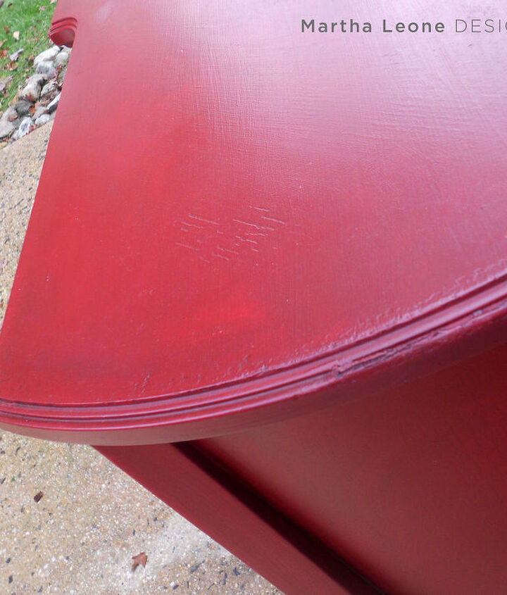try this red technique on your next piece, chalk paint, painted furniture