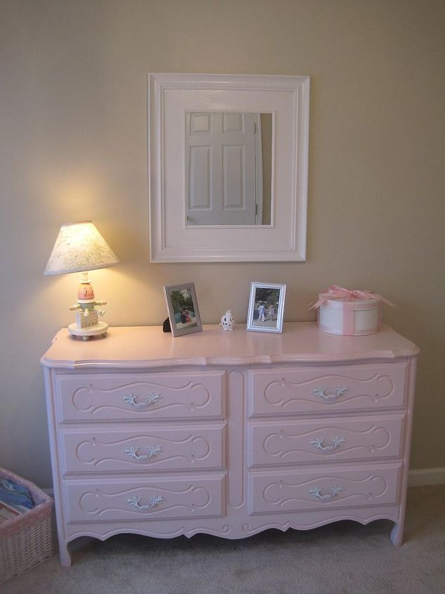 I painted some french provencial furniture a soft pink.