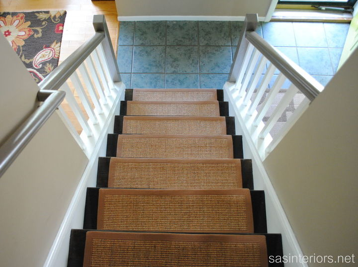 The stairs with sisal treads