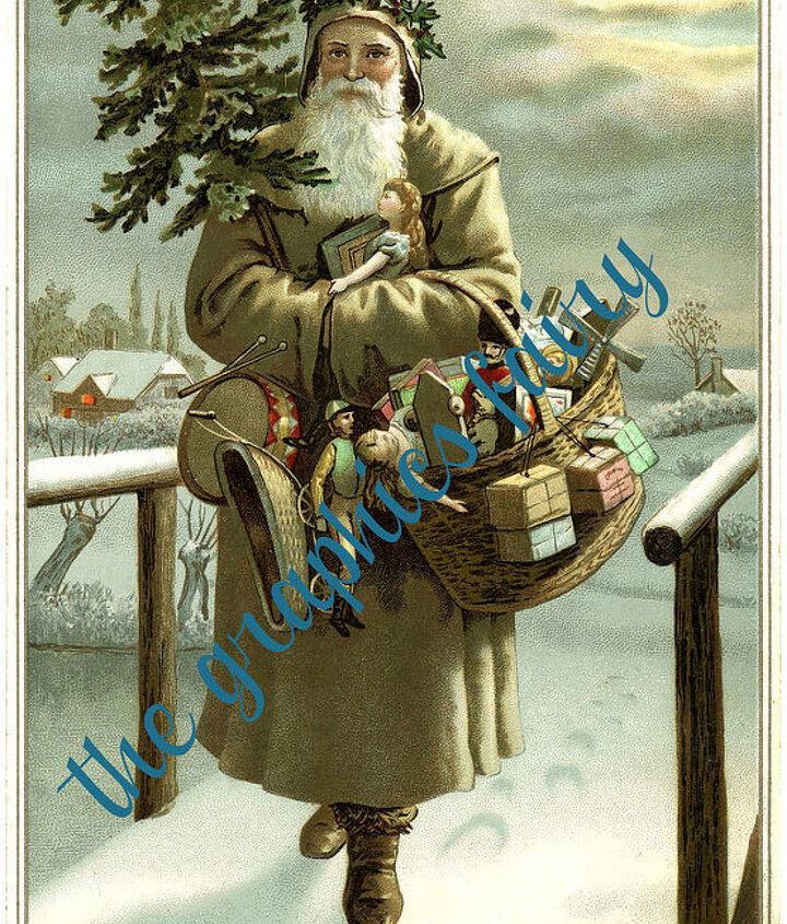 """while the paint was drying I printed off this GORGEOUS vintage """"god jul"""" Swedish Santa http://thegraphicsfairy.com/wp-content/uploads/2013/11/Swedish-Santa-Image-Graphicsfairy-672x1024.jpg"""