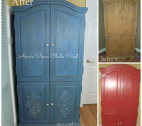 Stenciled Blue Armoire W 3 Color Technique Annie Sloan Chalk Paint, Chalk  Paint, Painted