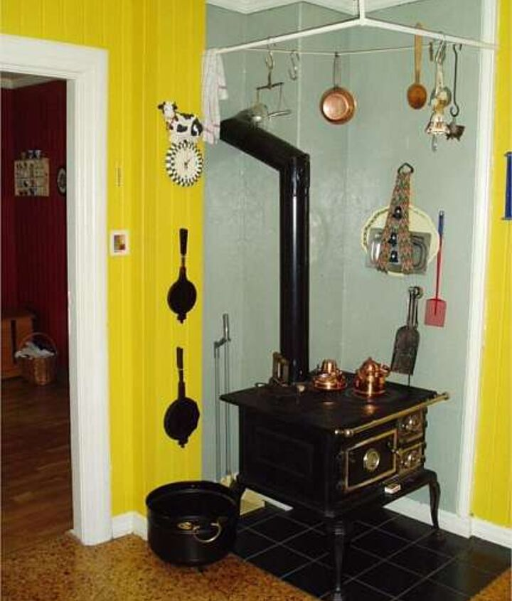 Befrore!!! I fell in love with the old stove, and I have kept it in the updated kitchen.