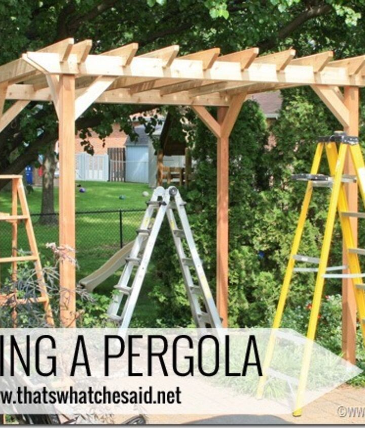diy weekend pergola project, diy, outdoor living, woodworking projects, Make your own Pergola